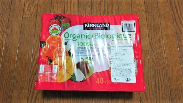 コストコ カークランドシグネチャー オーガニック100% の果汁ミックスジュース