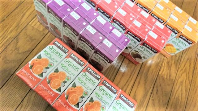 コストコ カークランドシグネチャー オーガニック100% の果汁ミックスジュース 4種類