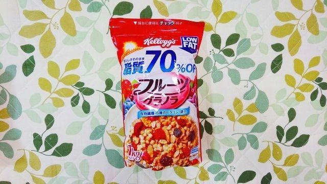 コストコ ケロック フルーツグラノラ脂質70%off 1kg大容量サイズ