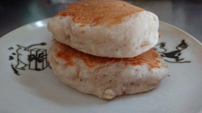 オイコスのストロベリー味とオートミール入りのパンケーキ (4)