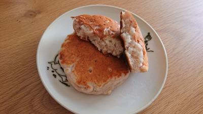 オイコスのストロベリー味とオートミール入りのパンケーキ (完成